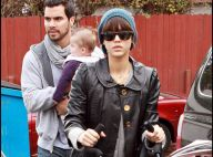 PHOTOS : Jessica Alba, son adorable fille et son mari en mode shopping de Noël... boudeur !