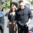 Hilary Duff et son compagnon Jason Walsh sont allés déjeuner chez Fred Segal à West Hollywood, le 3 novembre 2016