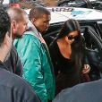 Kanye West et Kim Kardashian à New York, le 3 octobre 2016.
