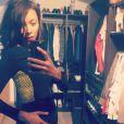 """Nehuda des """"Anges 8"""" enceinte, dévoile son baby bump sur Instagram, jeudi 20 octobre 2016"""