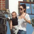 Exclusif - Rachel Bilson est allée déjeuner avec sa fille Briar à Los Angeles, le 20 septembre 2016