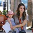 Rachel Bilson avec sa fille Briar Christensen à la sortie de l'école maternelle Pint Sized Kids à Studio City, le 18 août 2016