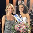 Sylvie Tellier et Alicia Aylies lors de l'élection de Miss France 2017 le 17 décembre 2016 à l'Arena de Montpellier