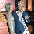 Sylvie Tellier et Jean-Pierre Foucault lors de l'élection de Miss France 2017 le 17 décembre 2016 à l'Arena de Montpellier
