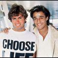George Michael et Andrew Ridgeley, le duo Wham!, à Londres en 1984, l'année de leurs plus grands tubes. George Michael est mort à 53 ans le 25 décembre 2016.
