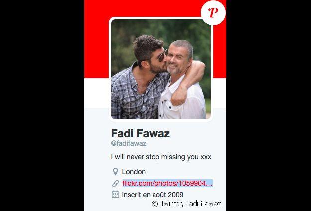 Le compte Twitter de Fadi Fawaz rend hommage à George Michael, mort le 25 décembre 2016.