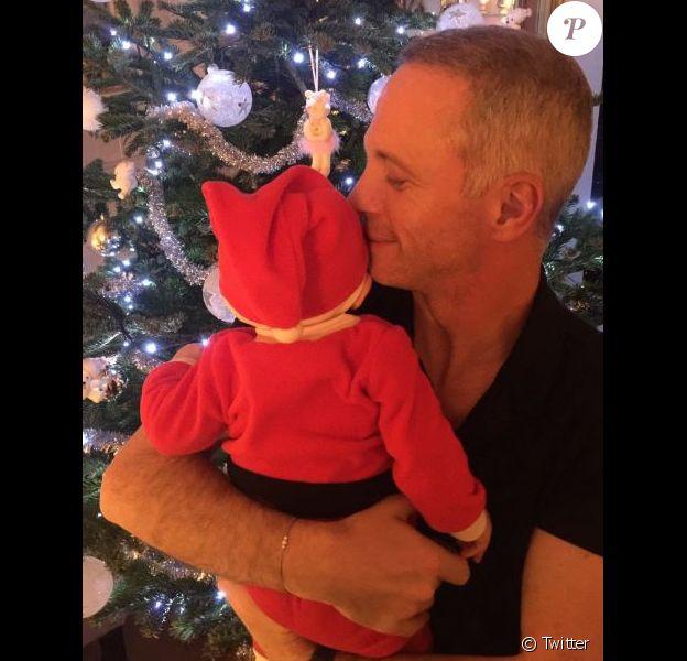 Samuel Etienne et son fils, sur Twitter, le 25 décembre 2016.