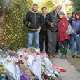 Hommage à George Michael devant son domicile de Goring, le 26 décembre 2016.