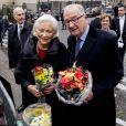 La reine Paola et le roi Albert - La famille royale de Belgique à leur arrivée en la cathédrale Saints-Michel-et-Gudule de Bruxelles pour le Te Deum (Fête du Roi). Le 15 novembre 2016 15/11/2016 - Bruxelles