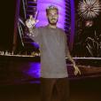 M.Pokora en vacances à Dubaï. Photo postée sur Instagram le 1er janvier 2017.