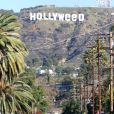 """L'iconique panneau Hollywood est devenu ""Hollyweed"", Los Angeles, le 1er janvier 2017."""