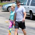Exclusif - Miley Cyrus et son compagnon Liam Hemsworth sont allés déjeuner en amoureux à Los Angeles, le 26 août 2016