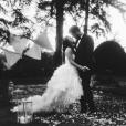 Noëmie Honiat et Quentin Bourdy. Photo de leur mariage qui a eu lieu en octobre 2014.
