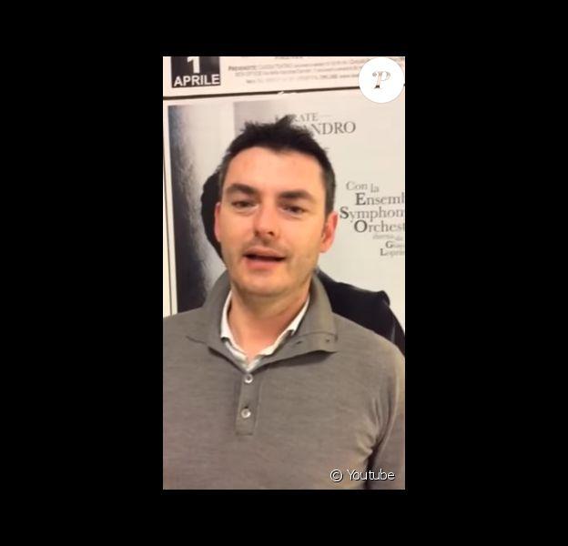 Giacomo Loprieno dans une vidéo publiée sur Youtube en 2014.