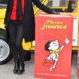 """Joyce Jonathan - Lancement de l'opération Pièces Jaunes 2017 À l'Hôpital Necker-Enfants malades AP-HP à Paris le 4 janvier 2017. Cette année, le personnage de bande dessinée """"Le Petit Nicolas"""" est le parrain de l'opération."""