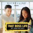 """MannyMua et Makeupshayla dans """"That Boss Life Pt. 1"""" pour Maybelline. Janvier 2017."""
