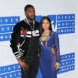 Nicki Minaj et son compagnon Meek Mill aux  MTV Video Music Awards 2016 au Madison Square Garden à New York. Le 28 août 2016