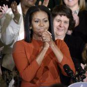 Michelle Obama, très émue, fait ses adieux puis la fête avec Barack et les stars