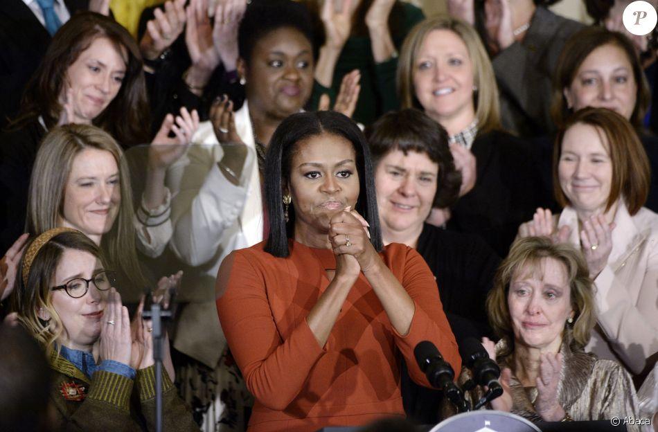 Michelle Obama fait ses adieux à la Maison Blanch, le 6 janvier 2017 à Washington.