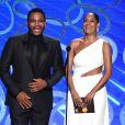 Anthony Anderson et Tracee Ellis Ross sur la scène des 68e Emmy Awards à Los Angeles le 18 septembre 2016
