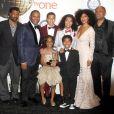 """Anthony Anderson, Tracee Ellis Ross, Miles Brown, Diane Johnson, Yara Shakidi - Salle de presse lors de la 46ème cérémonie annuelle des """"NAACP Image Awards"""" au Pasadena Civic Auditorium à Pasadena, le 6 février 2015."""