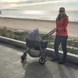 Victoria Azarenka a accouché le 20 décembre 2016 d'un petit Leo, ici en promenade au bord de la mer fin décembre. Photo Instagram.