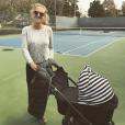 Victoria Azarenka a accouché le 20 décembre 2016 d'un petit Leo et révélé son prénom dix jours plus tard, en légende de cette photo Instagram.