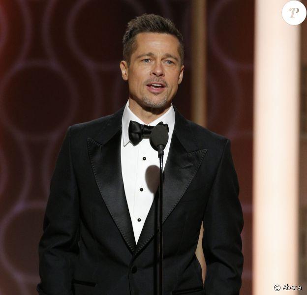 Brad Pitt lors des Golden Globes à Los Angeles le 8 janvier 2017