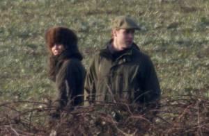 Le Prince William: pause tendresse lors d'une partie de chasse