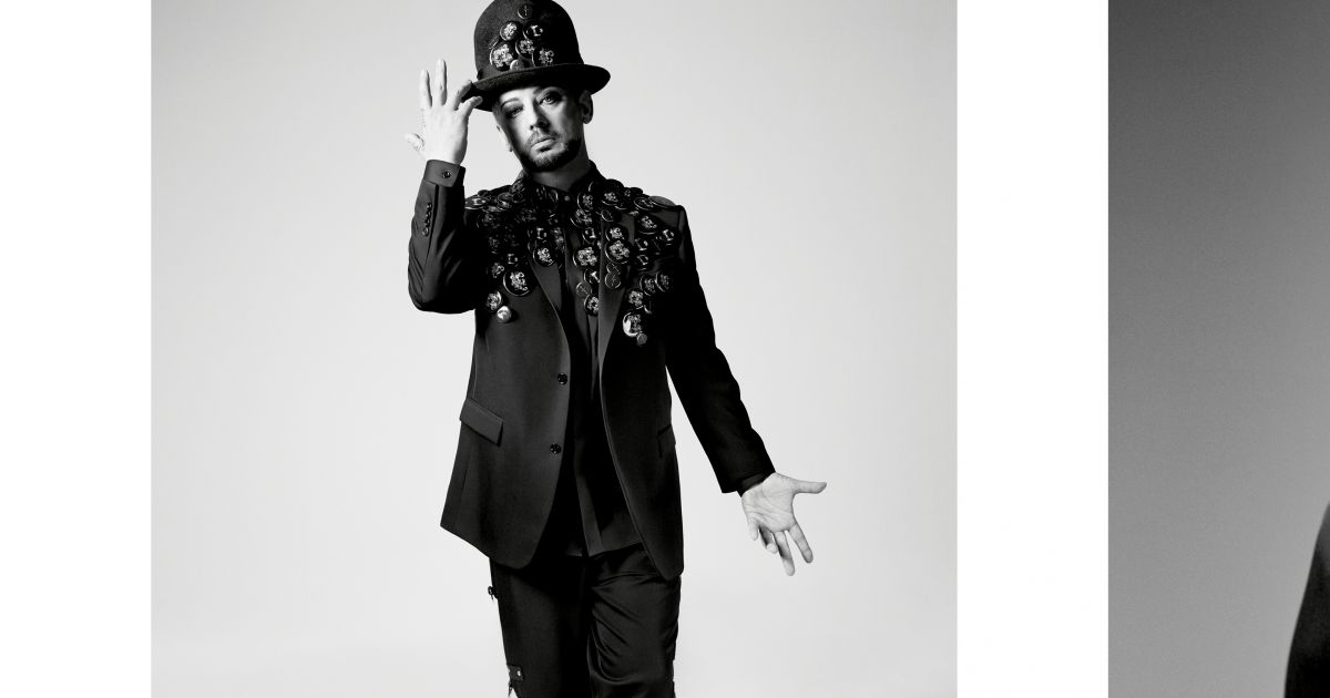 Boy George   Fantasque égérie de Dior Homme, avec Rami Malek et A AP Rocky  - Purepeople 07691b7ed49