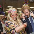 Le prince Harry participe à la 24e journée de collecte de fonds caritative dans une salle de l'ICAP à la City à Londres, le 7 décembre 2016.