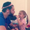 """""""Jensen Ackles et sa fille Justice Jay. Photo publiée sur sa page Instagram à l'été 2016"""""""