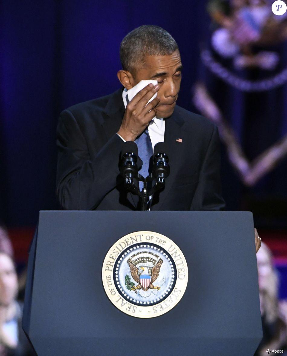 Barack Obama adresse son message d'adieu à la présidence des États-Unis, à McCormick Place. Chicago, le 10 janvier 2017.