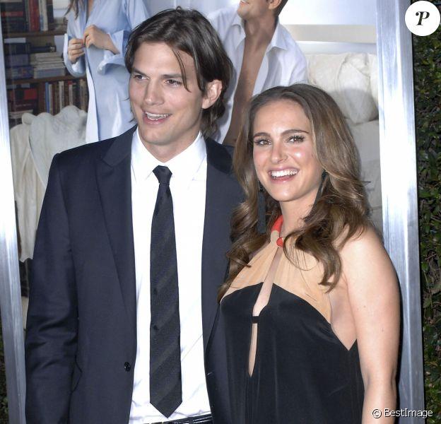 """Natalie Portman et Ashton Kutcher à l'avant-première du film """"Sex Friends"""" à Los Angeles le 11 janvier 2011"""