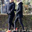 Ronaldo et sa petite-amie Celina Locks, lors d'une balade en amoureux dans les rues de Madrid le 6 janvier 2017.