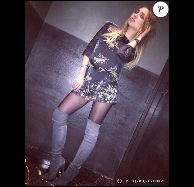 """Anastasiya de """"The Game of Love"""" en petite robe sur Instagram, 2016"""