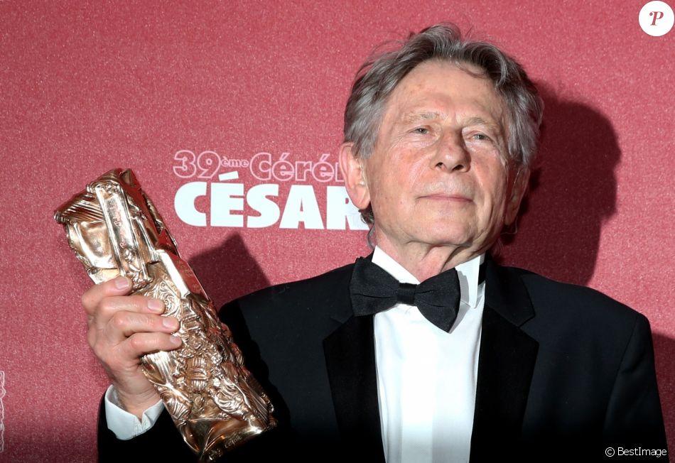"""Roman Polanski (Cesar du meilleur réalisateur pour le film """"La Vénus à la fourrure"""") - Salle de presse - 39e cérémonie des Cesar au théâtre du Châtelet à Paris le 28 février 2014."""