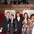"Les membres de la série ""Will and Grace"" (Eric McCormack, Sean Hayes, Debra Messing et Megan Mullally) à la cérémonie des Golden Globes, à Los Angeles, le 16 janvier 2006."