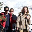 Jamel Debbouze et sa femme Mélissa Theuriau au 20e festival du film de comédie de l'Alpe d'Huez le 20 janvier 2017. © Dominique Jacovides / Bestimage