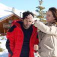 Jamel Debbouze et Mélissa Theuriau au 20e festival du film de comédie de l'Alpe d'Huez le 20 janvier 2017. © Dominique Jacovides / Bestimage