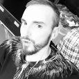 Christophe Willem dans les coulisses des Enfoirés. Instagram, le 22 janvier 2017