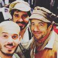 Patrick Bruel, M. Pokora et Patrick Fiori et au concert des Enfoirés à Toulouse. Instagram, janvier 2017.