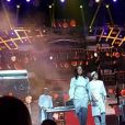 Amel Bent au concert des Enfoirés. Instagram, janvier 2017