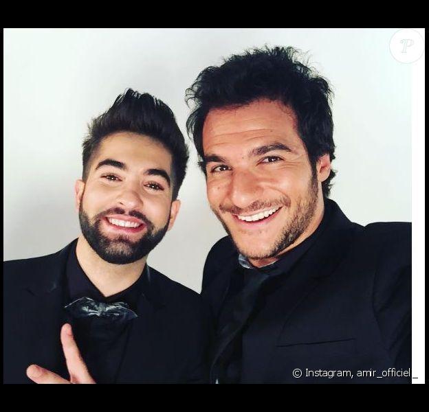 Amir et Kendji au concert des Enfoirés. Instagram, janvier 2017.