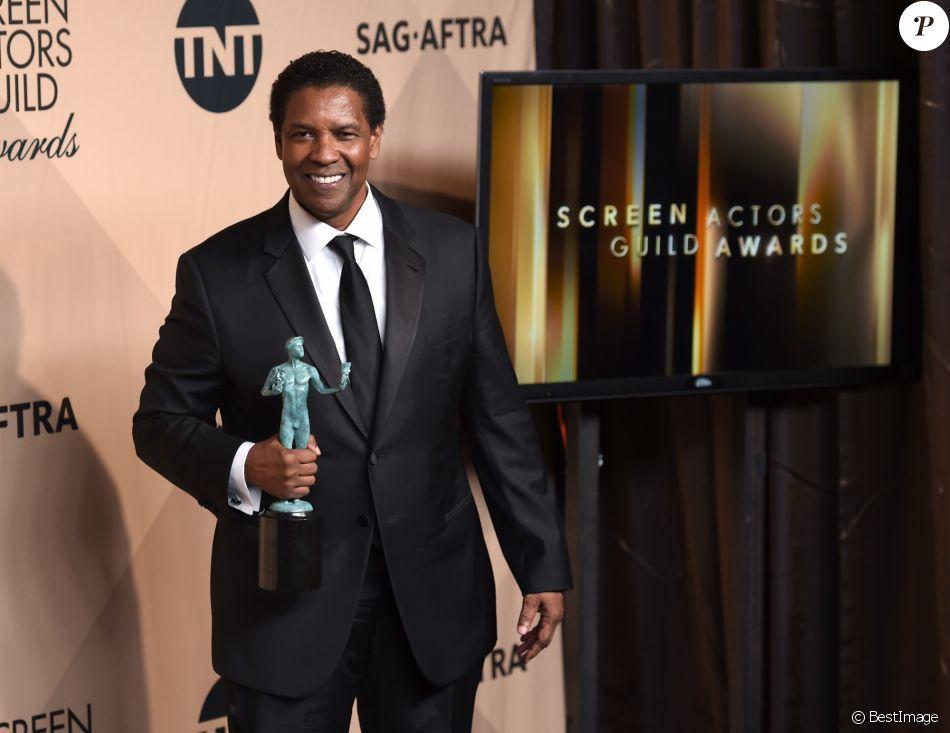 Super 23E Cérémonie Des Screen Actors Guild Awards denzel washington - photocall de la 23e soirée annuelle screen