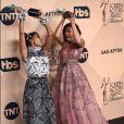 Janelle Monae et Taraji P. Henson - Photocall de la 23e soirée annuelle Screen Actors Guild awards au Shrine auditorium à Los Angeles, le 29 janvier 2017 © Chris Delmas/Bestimage