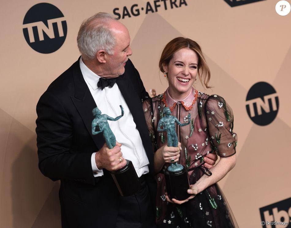 Super 23E Cérémonie Des Screen Actors Guild Awards claire foy et john lithgow - photocall de la 23e soirée annuelle
