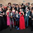 Millie Bobby Brown et toute l'équipe de Stranger Things - Photocall de la 23e soirée annuelle Screen Actors Guild awards au Shrine auditorium à Los Angeles, le 29 janvier 2017 © Chris Delmas/Bestimage
