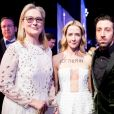 Meryl Streep, Jocelyn Towne et Simon Helberg à la 23ème soirée annuelle Screen Actors Guild Awards au Shrine Expo Hall à Los Angeles, le 29 janvier 2017 © Watchara Phomicinda/Los Angeles Daily News via Zuma/Bestimage29/01/2017 - Los Angeles