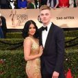 Ariel Winter et son compagnon Levi Meaden - Tapis rouge de la 23e soirée annuelle Screen Actors Guild awards au Shrine auditorium à Los Angeles, le 29 janvier 2017 @ Chris Delmas/Bestimage